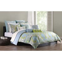 Echo Design Sardinia Green/ Blue Cotton Duvet Cover Set