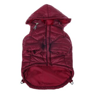 Pet Life Adjustable 'Sporty Avalanche' Burgundy Pet Coat