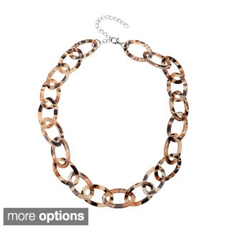 Alexa Starr Animal Print Lucite Mini Link Necklace