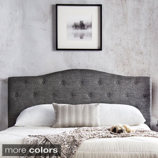 shop furniture of america tiffie flax fabric upholstered tufted rh overstock com Vinyl Headboard King Tufted Bed Tufted Headboard Bedroom Vinyl