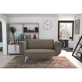 DHP Euro Grey Futon with Magazine Storage