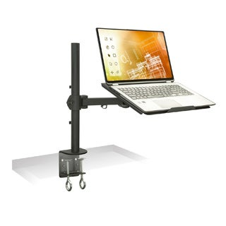 Mount-it Single Desk-mount Stand with Adjustable Extension Arms and Clamp