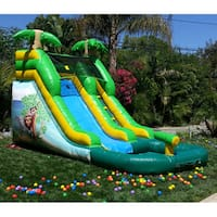 JumpOrange DuraLite Hero 12-foot Tall Safari Slide