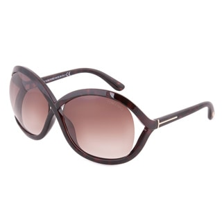 Tom Ford Women's FT0297 Sandra 52F Dark Havana Brown Sunglasses
