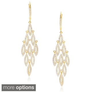 Journee Collection Cubic Zirconia Chandelier Earrings