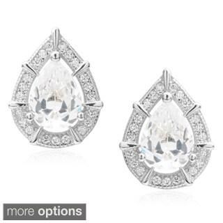 Journee Collection Cubic Zirconia Tear-drop Stud Earrings