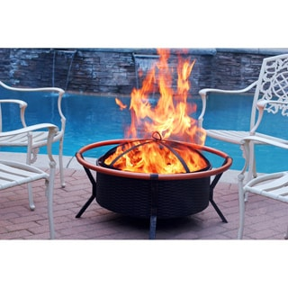 Copper Brush 34-inch Fire Pit