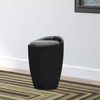 CorLiving Black Leatherette Storage Stool|https://ak1.ostkcdn.com/images/products/P16339033a.jpg?impolicy=medium