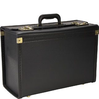 Heritage Black Vinyl Catalog Case with Secure Combination Lock Closure