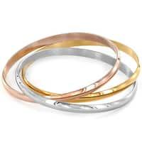 Elya Tri-color Bangle Bracelet (Set of 3)