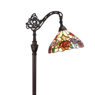 Tiffany Style Roses Design 62-inch Reading Lamp