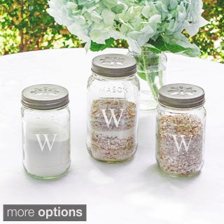 Personalized 3-piece Wedding Mason Jar Sand Ceremony Set