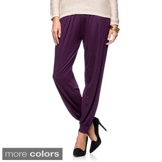 White Mark Women's Harem Pants (Option: Purple)