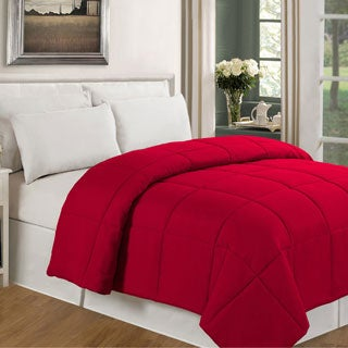 Solid Color Microfiber Down Alternative Comforter