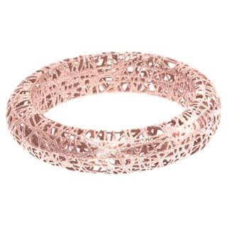 Stilnovo 14k Rose Gold Mesh Wire Ring|https://ak1.ostkcdn.com/images/products/P16358443L.jpg?impolicy=medium