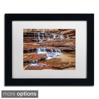 Pierre Leclerc 'Archangel Falls' Framed Matted Art