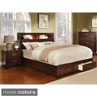 Clement Storage Platform Wood Bed by Furniture of America