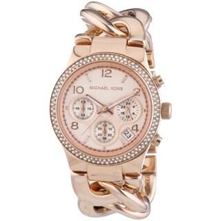 Michael Kors Women's MK3247 Runway Twist Rosegold Watch