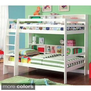 furniture of america renaive modern twin over twin bunk bed