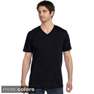Canvas Men's Cotton V-neck T-Shirt|https://ak1.ostkcdn.com/images/products/P16367381s.jpg?impolicy=medium