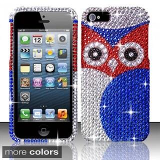INSTEN Diamond Beads Shinny Design Hard Plastic Phone Case Cover for Apple iPhone 5/ 5S/ SE