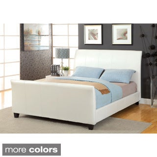 Furniture of America Benedicte Modern English Style Leatherette Sleigh Bed
