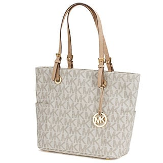 Michael Kors Jet Set Travel Large East/West Vanilla Tote Bag