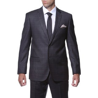 Ferrecci Men's 'Lincoln' Slim Fit Charcoal Plaid Tone on Tone 2-piece Suit