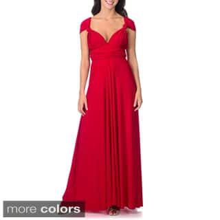 Women's Long Maxi Dress Convertible Wrap Cocktail Gown Bridesmaid Multi Way Dresses One Size Fits 0-12|https://ak1.ostkcdn.com/images/products/P16385394m.jpg?impolicy=medium