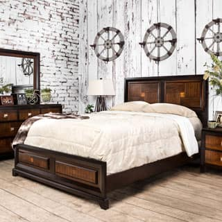 Furniture Of America Duo Tone And Walnut Platform Bed
