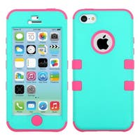 INSTEN High Impact PC Soft Silicone Dual Hybrid Phone Case Cover for Apple iPhone 5C