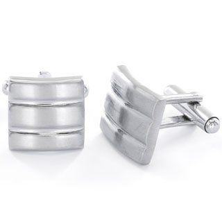 Men's Stainless Steel Brushed/ Polished Cuff Links