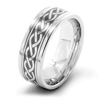 Men's Stainless Steel Celtic Knot Band Ring