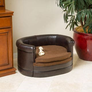 Doggerville Oval Cushy Dog Sofa by Christopher Knight Home|https://ak1.ostkcdn.com/images/products/P16397217.jpg?impolicy=medium