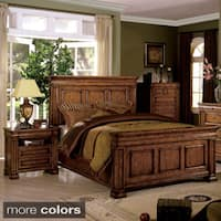 Furniture of America Claresse Traditional Style Beveled Panel Platform Bed