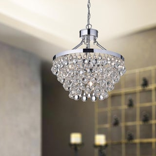 Ivana 5-light Chrome Luxury Crystal Chandelier