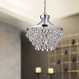 Grey ceiling lights for less overstock ivana 5 light chrome luxury crystal chandelier aloadofball Gallery