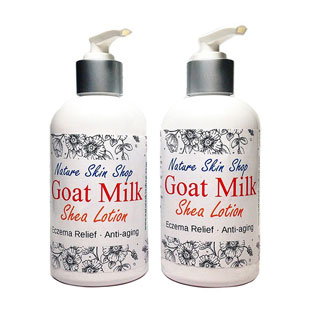 Nature Skin Shop Goat Milk Body Creme (2 Bottles)