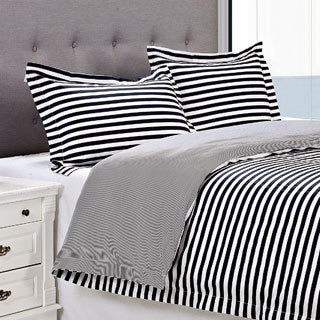Superior KeyStone Stripe 300 Thread Count Cotton Duvet Cover Set