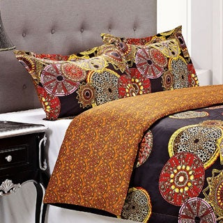 Superior Sunburst 3-piece Cotton Duvet Cover Set