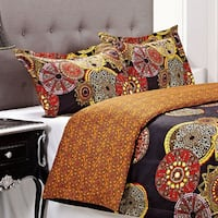 Superior Sunburst 3-piece Cotton Duvet Cover Set