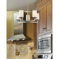 Avery Home Lighting Savannah Brushed Nickel 5-light Chandelier - Silver