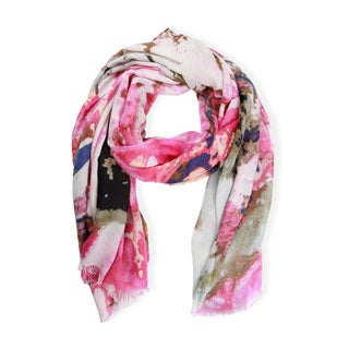 Handmade Saachi Women's Abstract Print Scarf (China)