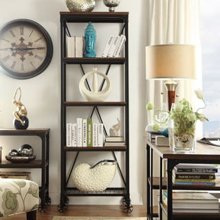 TRIBECCA HOME Nelson Industrial Modern Rustic 26-inch Bookcase