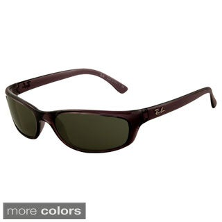 Ray-Ban Men's 'RB4115' 642/73 Havana Wrap Sport Sunglasses