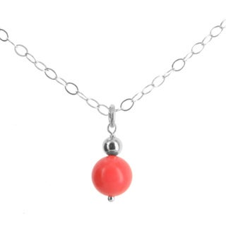 """Bamboo Coral Sterling Silver Handmade 18"""" Necklace. Ashanti Jewels"""