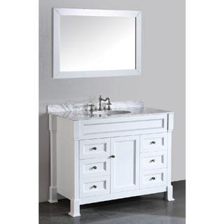 43-inch Bosconi SB-278WH Contemporary Single Bathroom Vanity