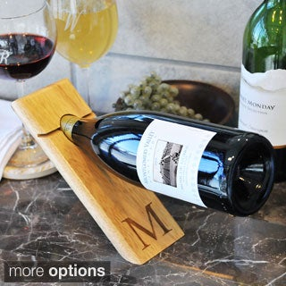 The Gray Barn Mistwood Personalized Counter Balance Wine Bottle Holder