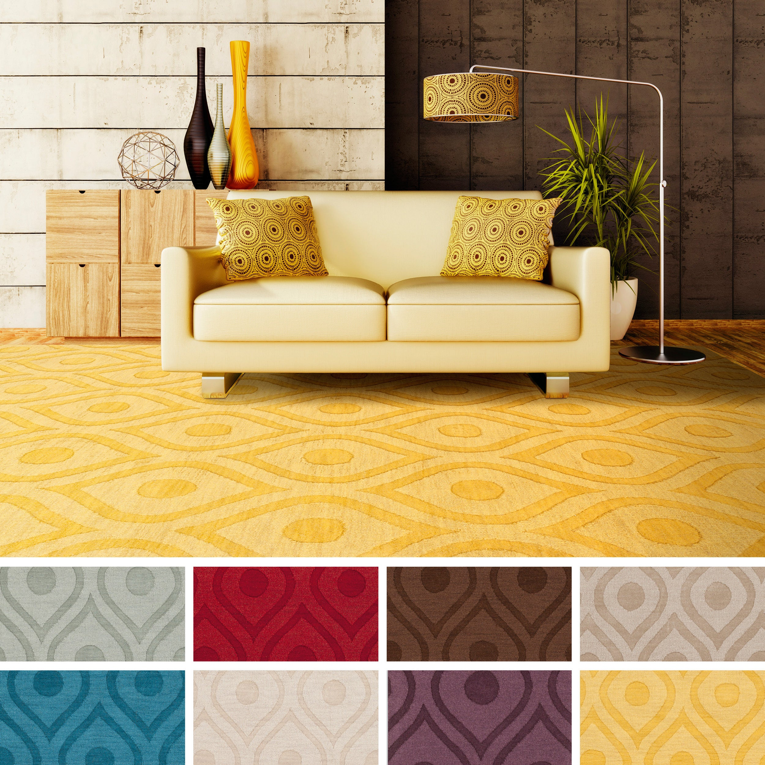 Hand-Woven Abi Tone-on-Tone Wool Rug (5' x 7'6)