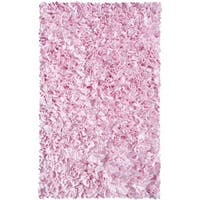 Shaggy Raggy Pink Cotton Rug - 2'8x4'8